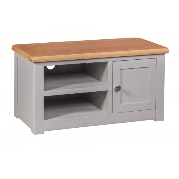 Diamond Grey Painted Small TV Cabinet For Up To 42\' TVs