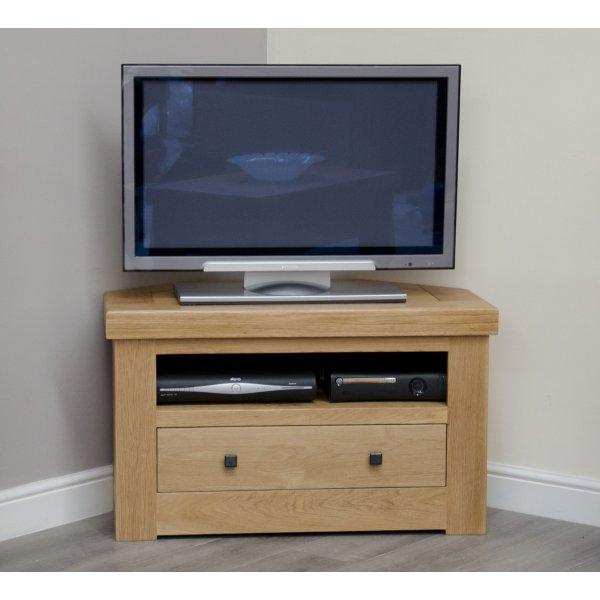 """Bordeaux Oak Corner TV Cabinet For Up To 40\"""" TVs"""