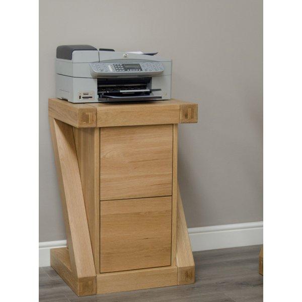 Solid Oak Z File Cabinet