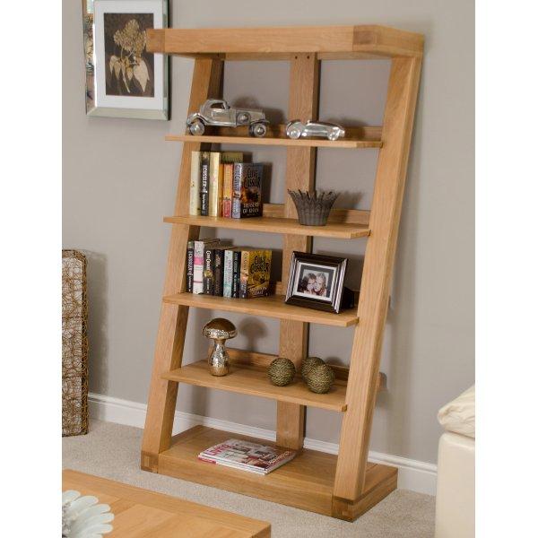 Solid Oak Z Large Bookcase