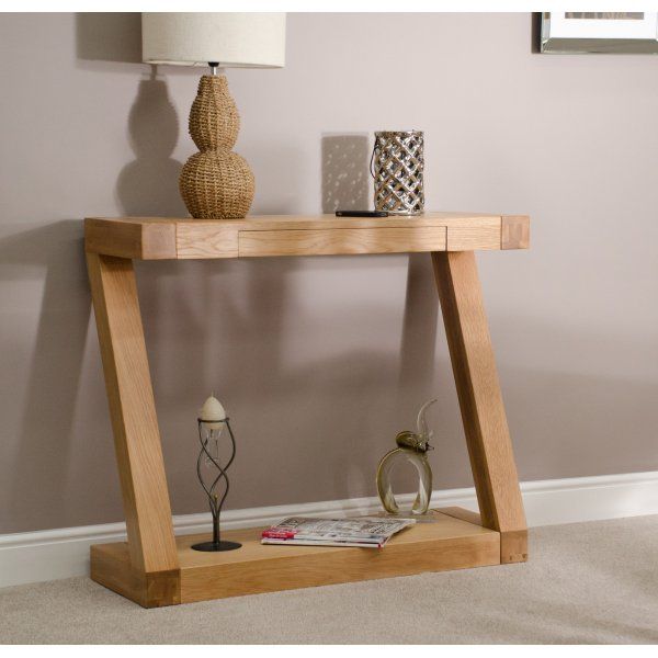 Solid Oak Z Hall Table