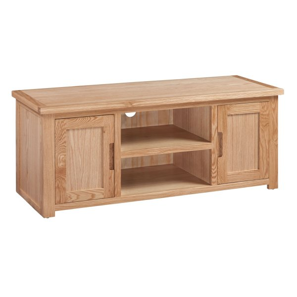 Solid Oak Moderna Large TV Cabinet