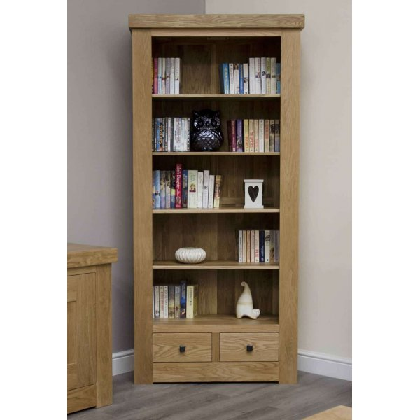 Bordeaux Large Oak Bookcase with Drawers
