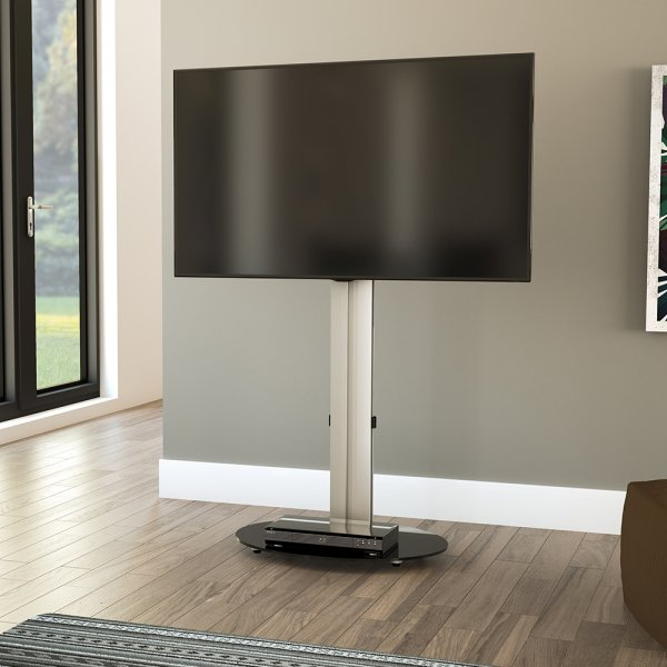 """AVF Eno FSL590ENSB 600mm Silver and Black TV Stand for up to 52\"""" TVs"""