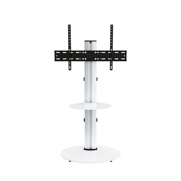 """AVF Eno FSL600ENSW 600mm Silver and White TV Stand with AV Shelf for up to 55\"""" TVs"""