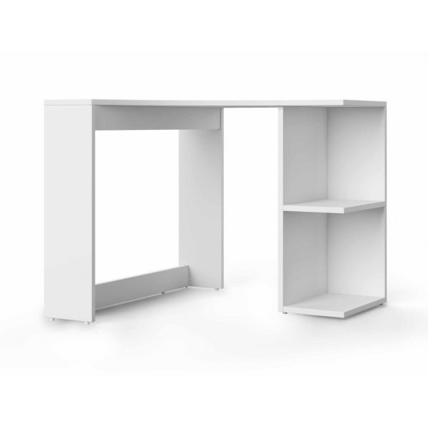 Alphason Chesil Corner Rounded Storage Desk - White