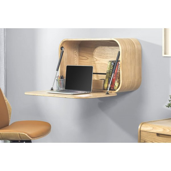 Jual PC205 Wall Mounted Drop Down Desk - Oak