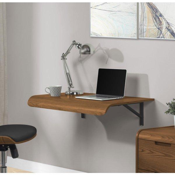 Jual PC206 Wall Mounted Drop Down Desk - Walnut