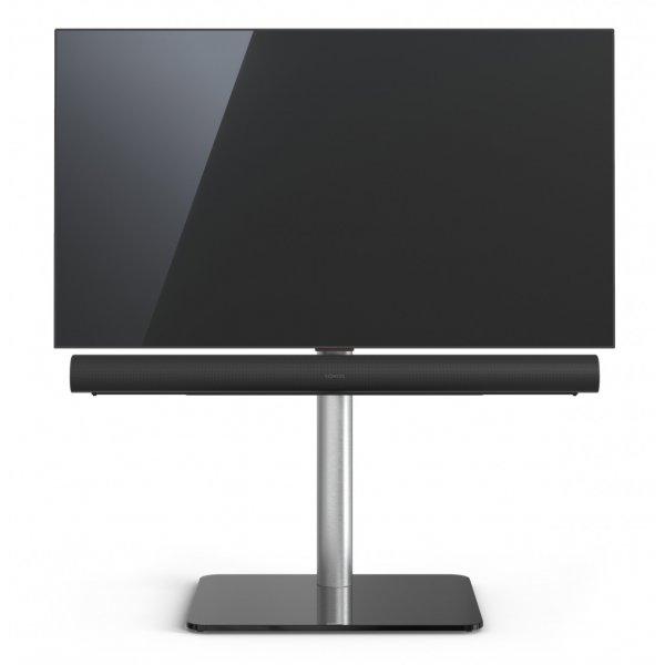 Spectral Just Racks TV620-BG TV Stand With TV Bracket and Soundbar Mount for Sonos Arc - Black Glass