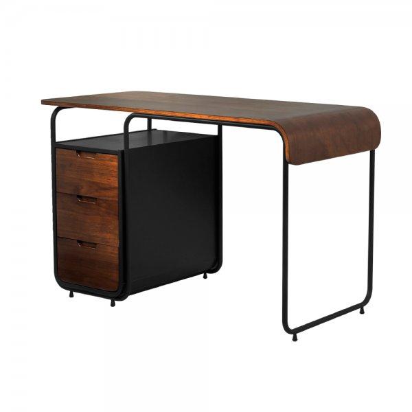 Jual Manhattan 3 Drawer Desk Walnut