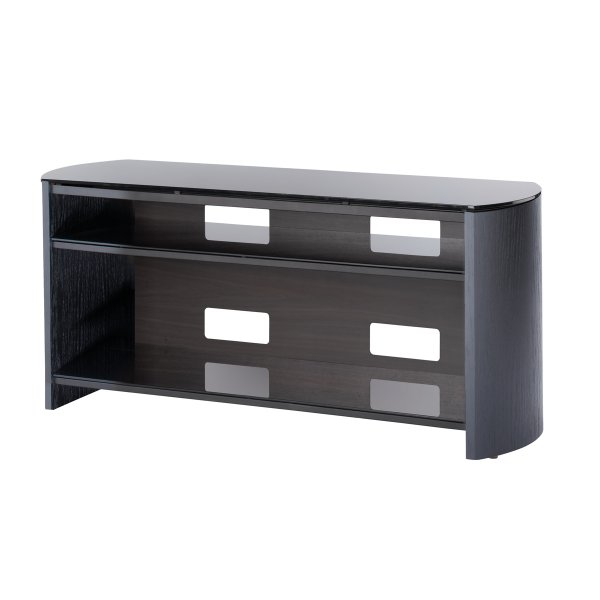 """Alphason Finewoods FW1100 Black Oak Veneer TV Stand for screens up to 50\"""""""