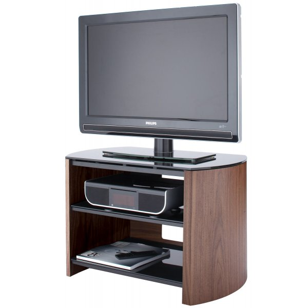 Walnut Real Wood TV Stand for screens up to 37""