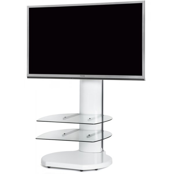 Origin II S4 Flat Panel Cantilever TV Stand In White