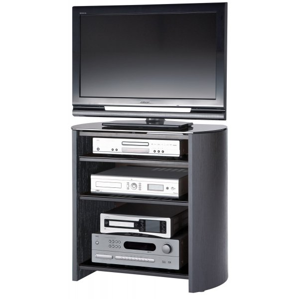 """Alphason Finewoods FW750/4 Black Oak Veneer TV Stand for screens up to 37\"""""""