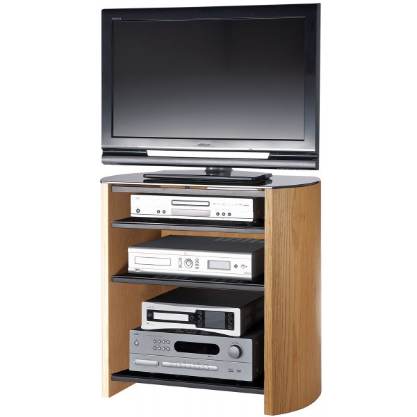 """Alphason Finewoods FW750/4 Light Oak Veneer TV Stand for screens up to 37\"""""""