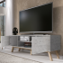 "Selsey Vero Wood 1500 TV Stand for TVs up to 70"" - Concrete Alternative Image"