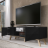 "Selsey Vero Wood 1500 TV Stand for TVs up to 70"" - Black Matt Alternative Image"