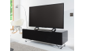Alphason CRO2-1200CPT-BK Chromium Concept Black TV Stand with Speaker Mesh Front