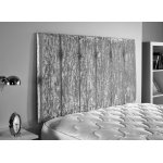 ValuFurniture Jubilee Velvet Fabric Headboard - Silver - King 5ft