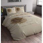 Sleep Time Stamp Rose Duvet Cover Set - Taupe - Single 3ft