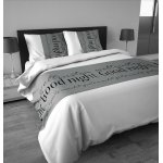 Sleep Time Goodnight Duvet Cover Set - Grey - Single 3ft