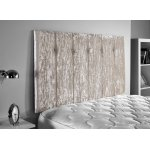 ValuFurniture Jubilee Velvet Fabric Headboard - Cream - King 5ft