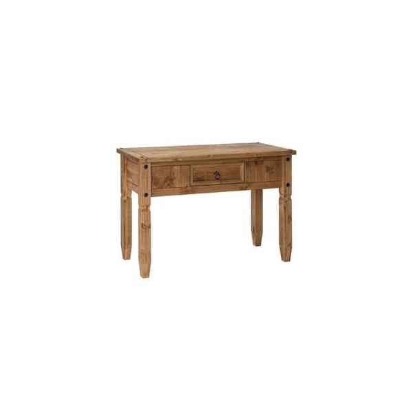 Core Products CR901 Classic Corona 1 Drawer Console Table - Rustic Pine