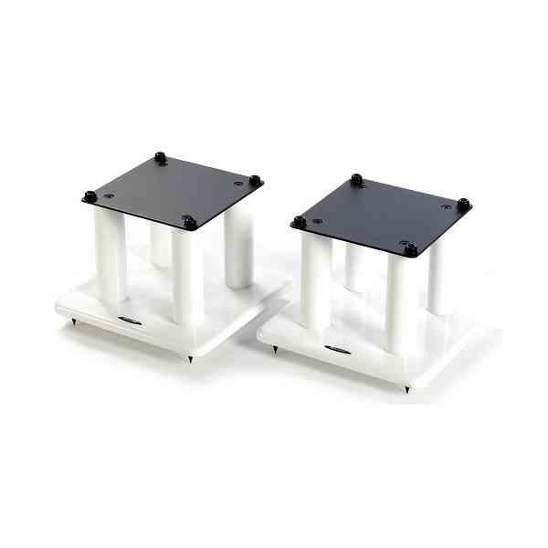 Atacama Speaker Stands in White - Height 200mm