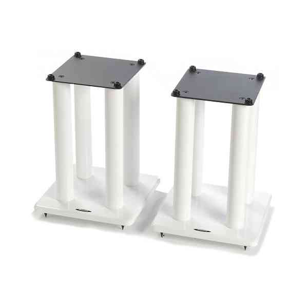 Atacama Speaker Stands in White - Height 400mm