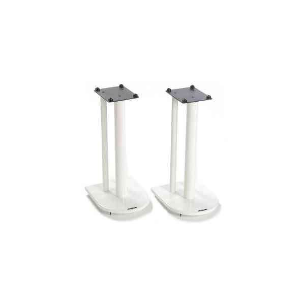 Pair of Speaker Stands in White - Height 50cm