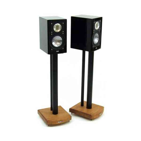 MOSECO 6 Black & Medium-Bamboo Speaker Stands