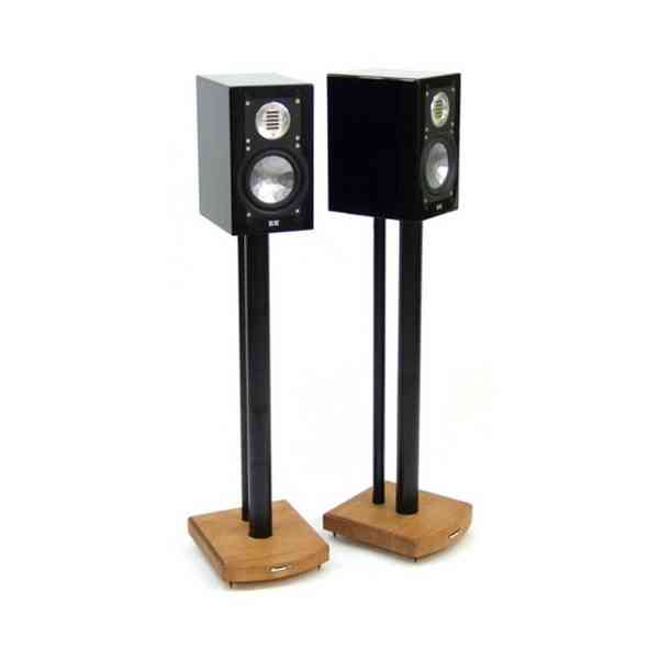 MOSECO 7 Black & Medium Bamboo Speaker Stands