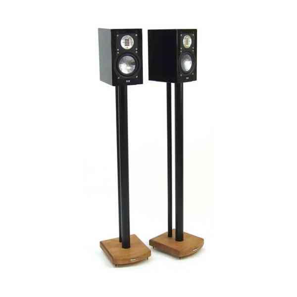 MOSECO 10 Black & Medium Bamboo Speaker Stands