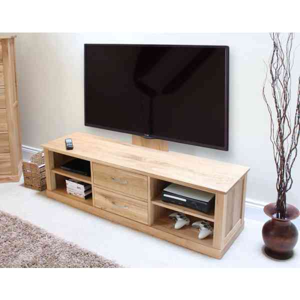mobel oak widescreen tv cabinet