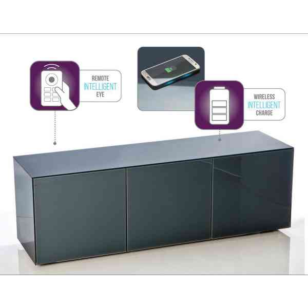 """Frank Olsen INTEL1500GY Grey TV Cabinet For TVs Up To 70\"""""""