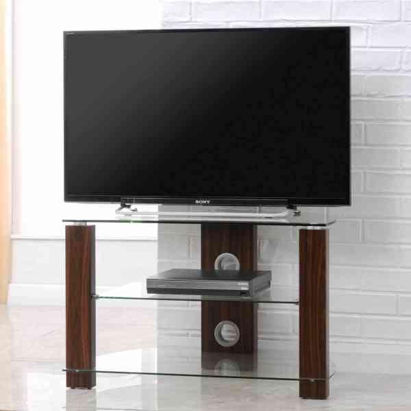 TNW Vision Walnut 800 Corner TV Stand