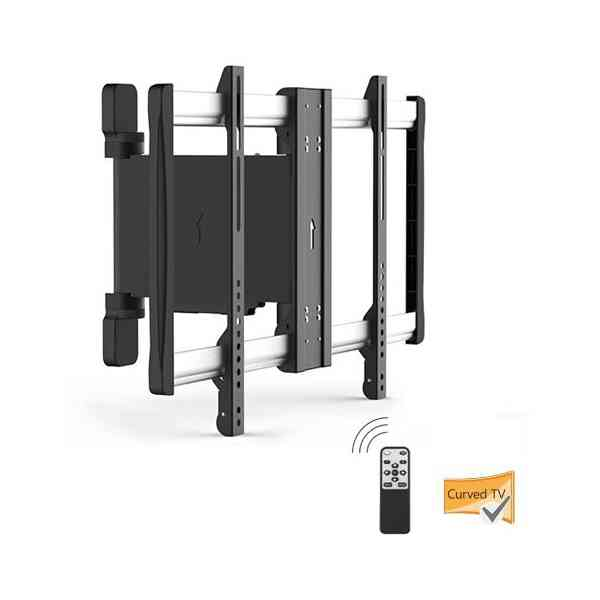 Lithe Audio Motorised Curved & Flat Panel TV Wall Mount - Up To 60""