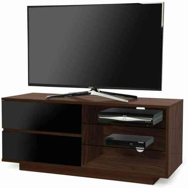 "MDA Gallus Walnut and Black TV Cabinet for up to 55"" TVs"