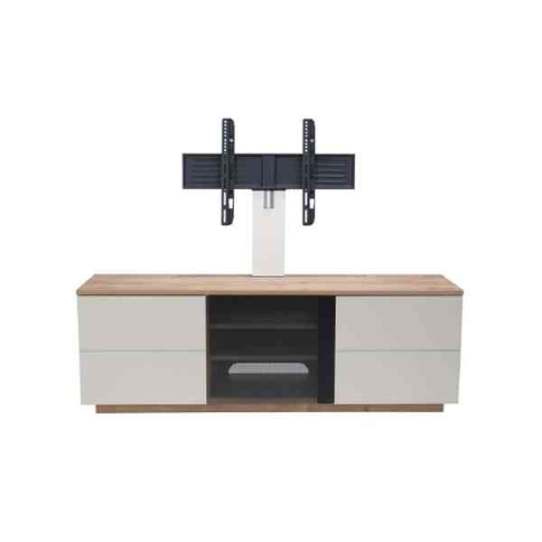 "UKCF New London Oak/White TV Stand with Bracket For up to 65"" TVs"
