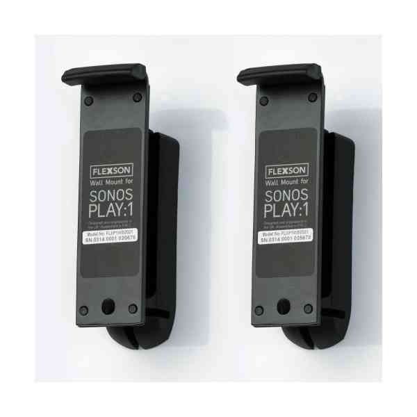 Flexson Wall Mount for For Sonos Play:1 - Black (Pair)