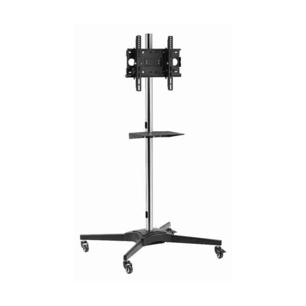 "Mount Massive TRL1-44 Single Pole TV Cart Trolley Stand For Up To 55"" 1.75m"