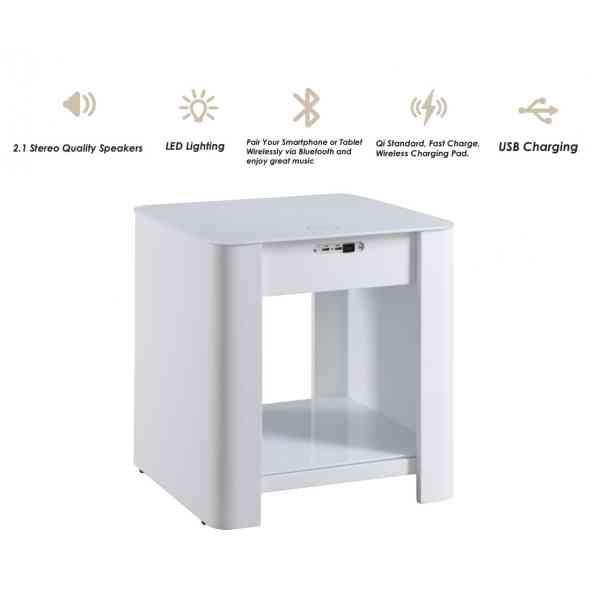 Phenomenal Jual Jf406 San Francisco Smart Speaker Charging Bedside Lamp Table White Interior Design Ideas Gentotryabchikinfo