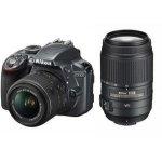 Nikon D3300  18-55mm VR  55-300mm VR