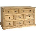 Sante Fe Wide Chest of Drawers 6+2