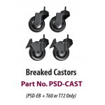 Castors for PSD-EB series stand