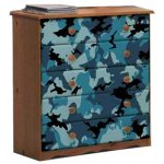 Boys Pine Chest of Drawers with Camouflage Design