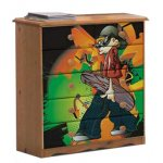Boys Pine Chest of Drawers with Graffiti Design