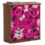 Girls Pine Chest of Drawers with Butterfly Design