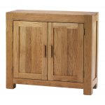 Chunky Oak Small Two Door Sideboard