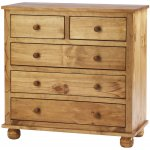 Antique Dorset Solid Pine Two Over Three Chest of Drawers